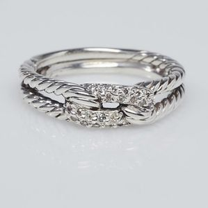David Yurman Pave Diamond Loop Ring